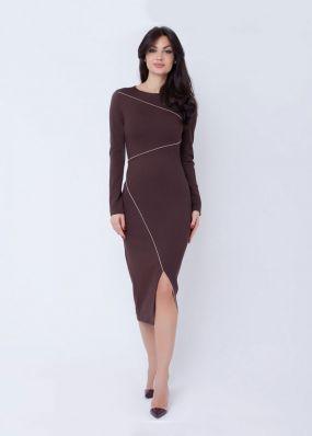 Платье-футляр с разрезом 180317B