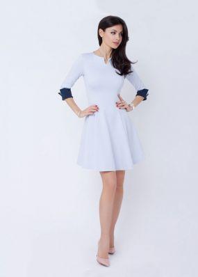 Нарядное мини-платье с рукавами 180318