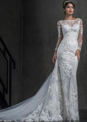 Свадебное платье-русалка с шлейфом 18406