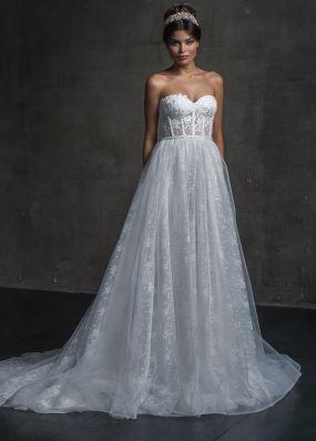 Свадебное платье с корсетом и шлейфом 18467