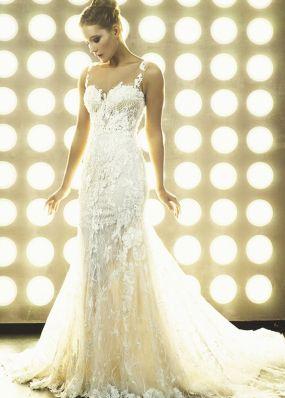 Свадебное платье в стиле русалки из кружева 18480