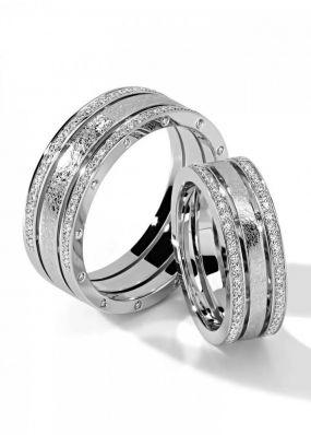 Обручальные кольца из белого золота BENDES 3011