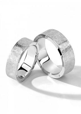 Обручальные кольца из белого золота BENDES 3014