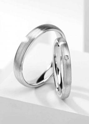Обручальные кольца из белого золота BENDES 3050
