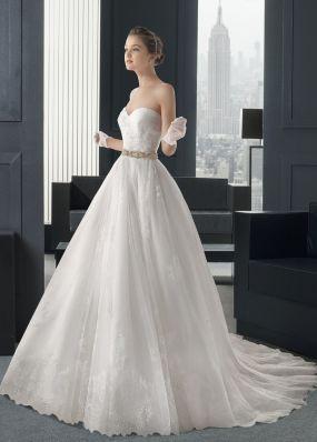 Пышное свадебное платье с шлейфом ROSA CLAR? 7A11