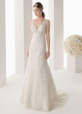 Свадебное кружевное платье на широких лямках ROSA CLAR? 7A74