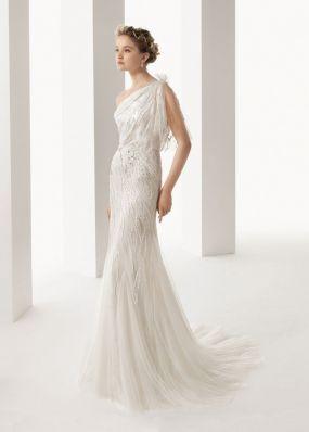 Свадебное платье из фатина с вышивкой ROSA CLAR? 7K03