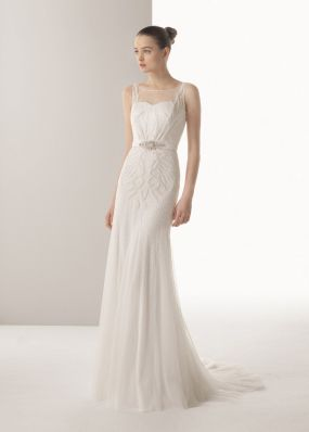 Свадебное платье с жемчугом ROSA CLAR? 8K02