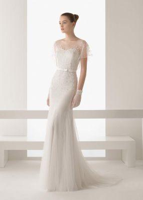 Свадебное платье-русалка с пайетками ROSA CLAR? 8K08