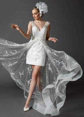 Короткое свадебное платье CH001