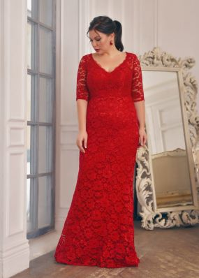 Платье-русалка с камнями и шлейфом CH096B