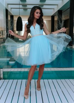 Коктейльное платье со стразами CH100B