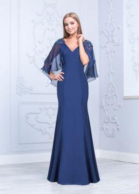 Стильное вечернее платье с кружевными рукавами CH117B