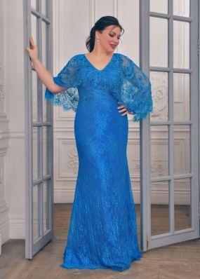 Вечернее платье из кружева c рукавами CH119B