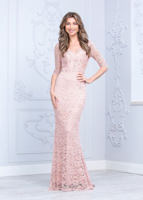 Нежно-розовое вечернее платье CH124B
