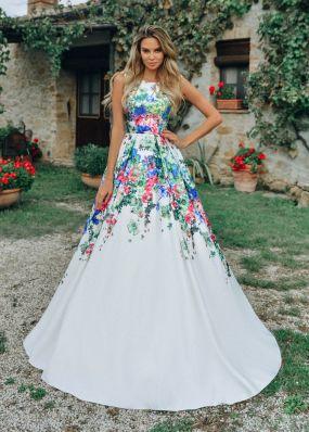 Вечернее платье с пышной юбкой CU008B