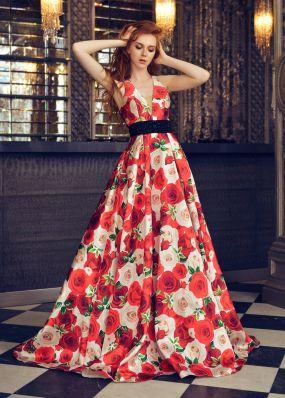 Вечернее платье с открытой спиной CU014B