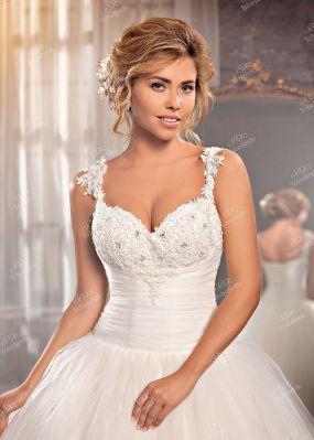 Пышное свадебное платье с декольте DA003
