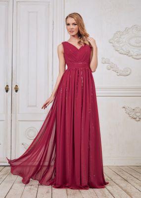 Вечернее платье с V-образным вырезом на спине ED003B