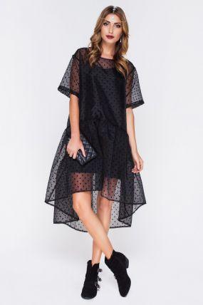 Вечернее платье с прозрачным верхом F141101B
