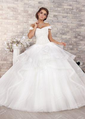 Свадебное платье с расшитым верхом FC003