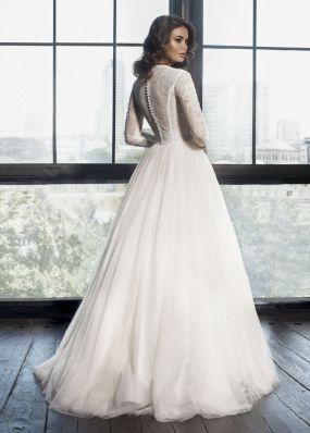 Свадебное платье с кружевными рукавами K17100610Z