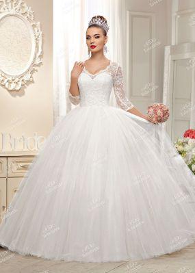 Белое свадебное платье с пышной юбкой KA005Y1
