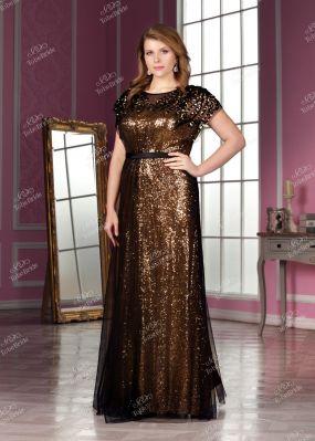 Вечернее платье с короткими рукавами KP0094B