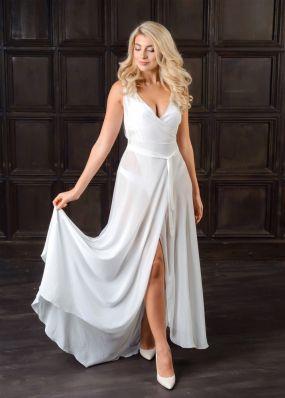 Будуарное платье из шифона LF111