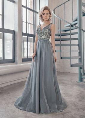 Вечернее платье из блестящей ткани MC0119B