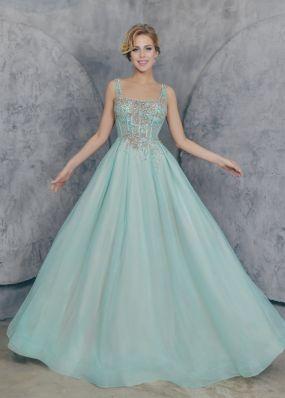 Вечернее платье а-силуэта с корсетом MC0121B