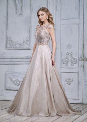 Золотистое платье с открытой спиной MC089B