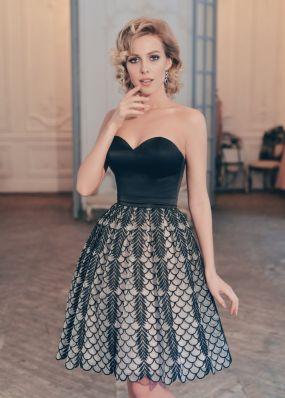 Короткое вечернее платье с пышной юбкой MR057B