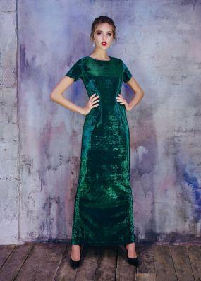Блестящее вечернее платье с разрезом MT032B