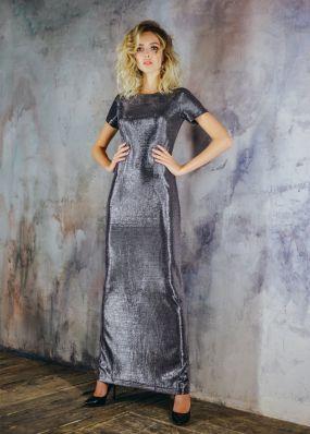 Вечернее прямое платье с разрезом MT034B