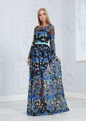 Вечернее платье с вышивкой ND216B