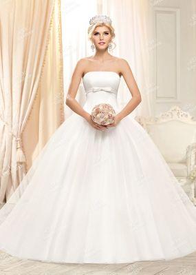 Пышное белое свадебное платье PD0007