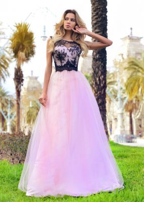 Вечернее платье с шифоновой юбкой RB043B