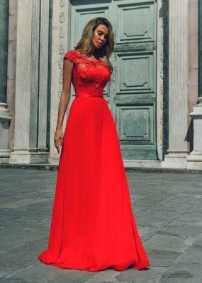 Красное вечернее платье RB050B