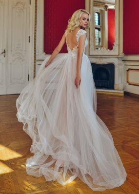 Свадебное платье с кружевным лифом RB051