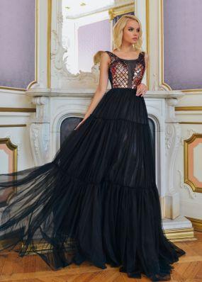 Вечернее платье с фатиновой юбкой RB053B