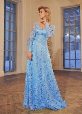 Кружевное платье с шлейфом RB069B