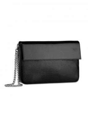 Классический черных кожаный клатч RDB-001-007