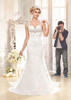 Свадебное платье фасона русалка со шлейфом SL0164