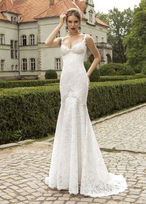 Свадебное платье из кружева силуэта русалка SOL005