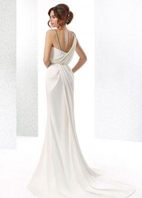 Прямое свадебное платье из шифона SOL011