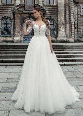 Свадебное платье с глубоким вырезом SOL020
