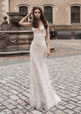 Расшитое свадебное платье-русалка SOL025
