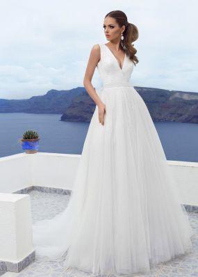 Свадебное платье с пайетками SOL028