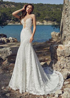 Свадебное платье из кружева SOL033